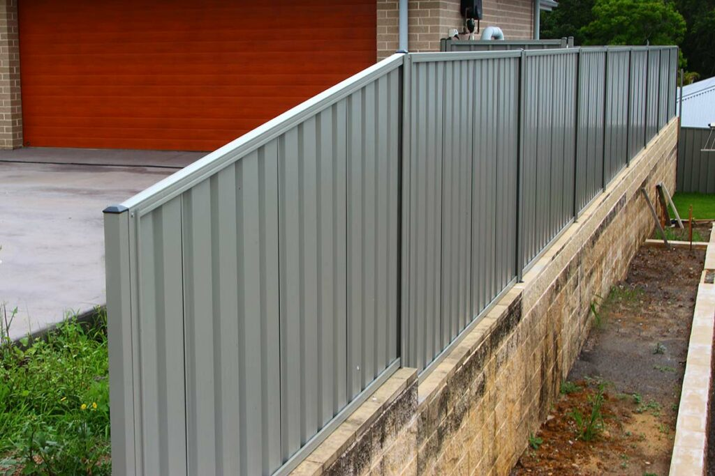 Colorbond Side Fence Installation