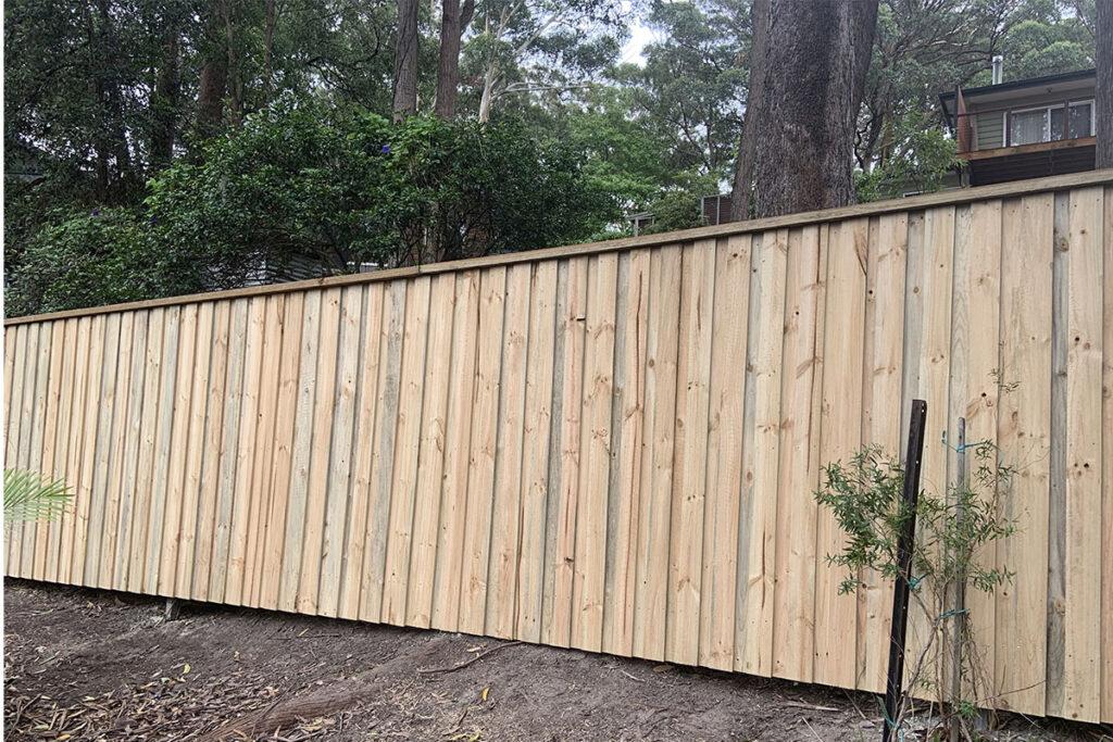timber slat fence central coast