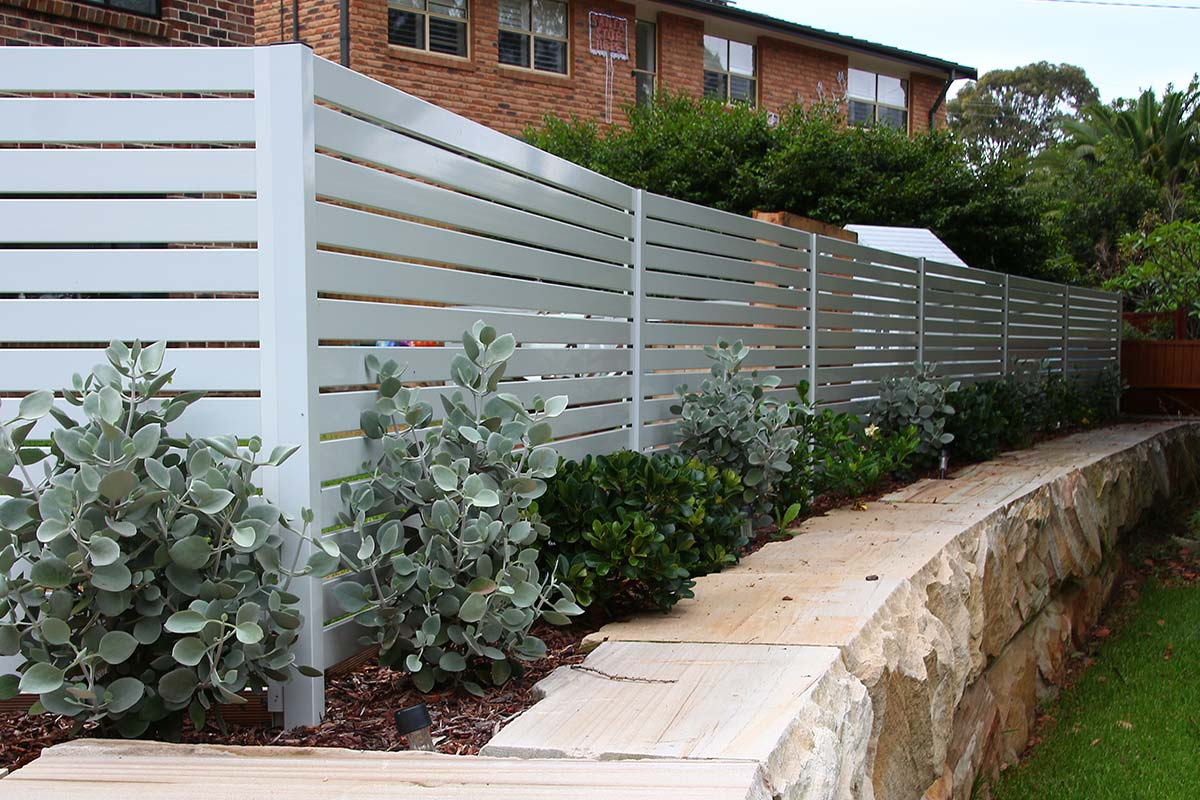 White Slatted Fencing